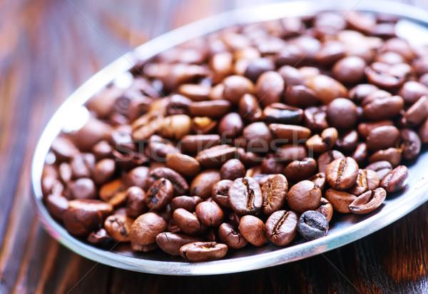 Chicchi di caffè aroma tavolo in legno natura energia colore Foto d'archivio © tycoon