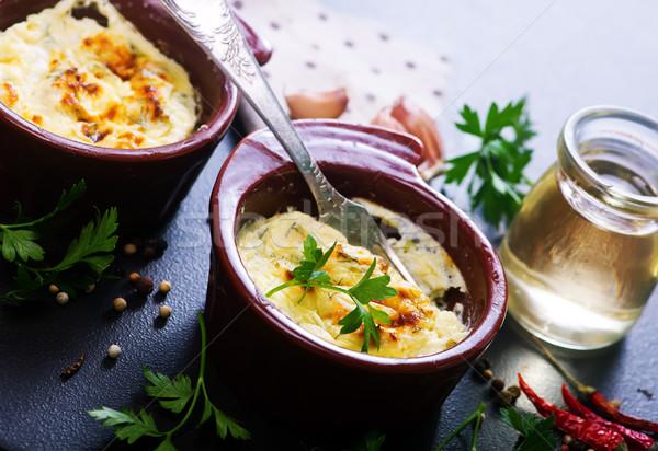Uova panna acida ciotola alimentare colazione Foto d'archivio © tycoon