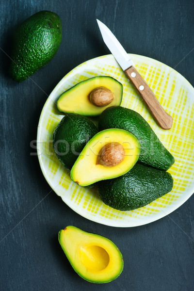 Avocat fraîches table vert jardin fond Photo stock © tycoon