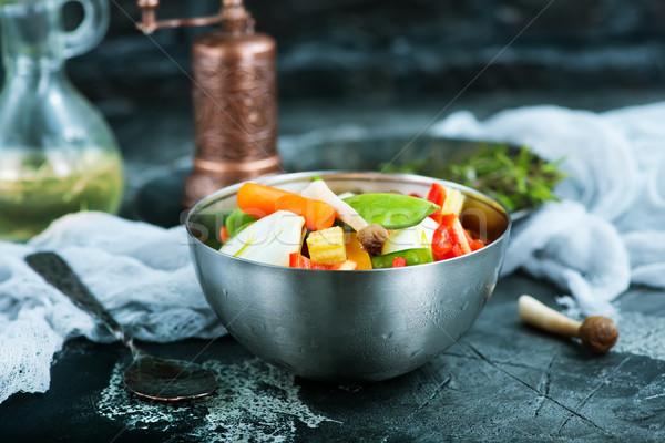 Keverék zöldségek friss étel vacsora étel egészség Stock fotó © tycoon
