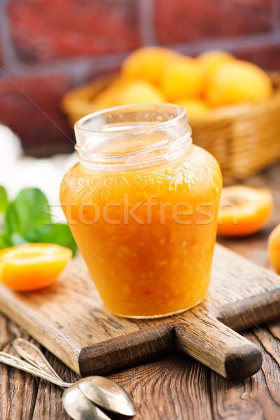fresh apricot jam Stock photo © tycoon