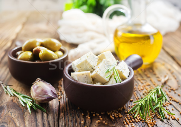 cheese and olives Stock photo © tycoon