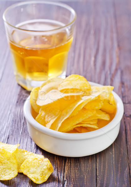 chips from potato Stock photo © tycoon