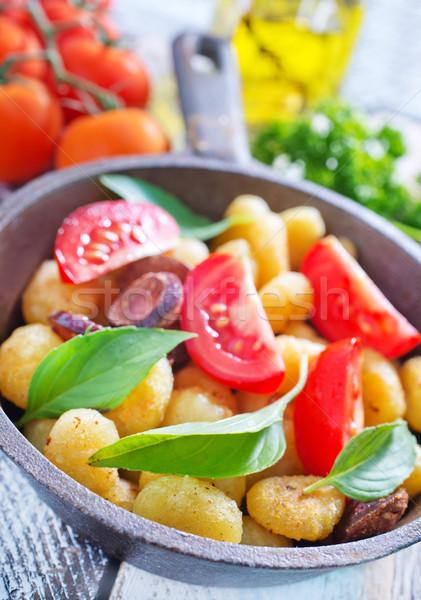 żywności drewna obiedzie makaronu mięsa Zdjęcia stock © tycoon