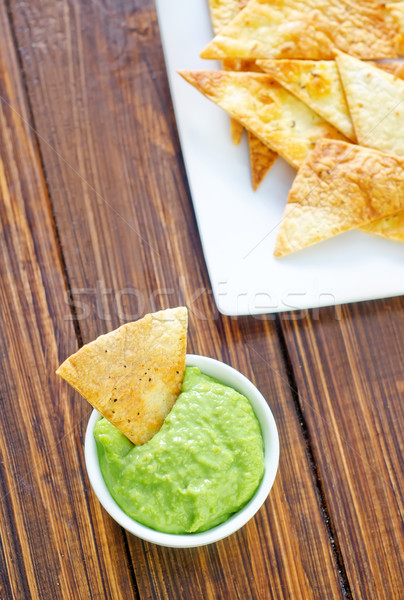 Nachos diner Rood witte peper Mexicaanse Stockfoto © tycoon