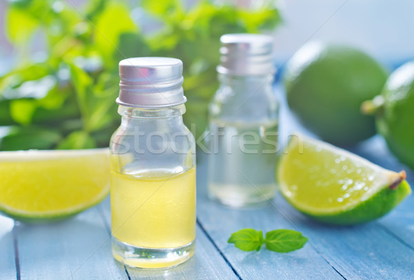 Aroma olio natura foglia verde bottiglia Foto d'archivio © tycoon