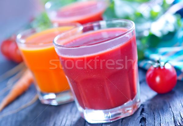 Stockfoto: Sap · glas · tabel · voorjaar · vruchten