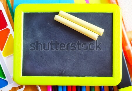 black board and chalk Stock photo © tycoon