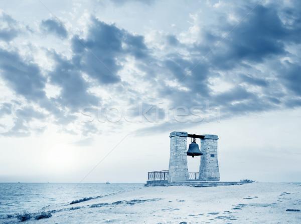 большой древних колокола пляж стены морем Сток-фото © tycoon