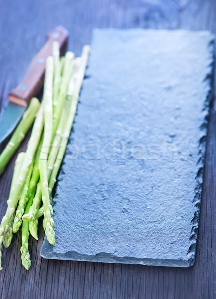 Spárga tábla asztal étel természet egészség Stock fotó © tycoon