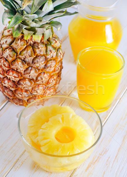 ананаса сока кольца тропические желтый свежие Сток-фото © tycoon