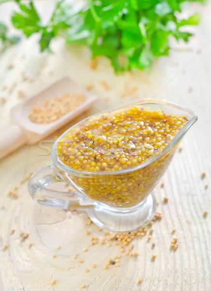 Mustár szépség szakács ebéd friss gabona Stock fotó © tycoon