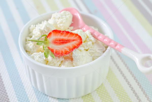 Chalet fraise alimentaire bois santé cuisine Photo stock © tycoon