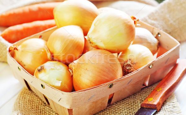 Cebolla cocina verde mercado comer vegetales Foto stock © tycoon