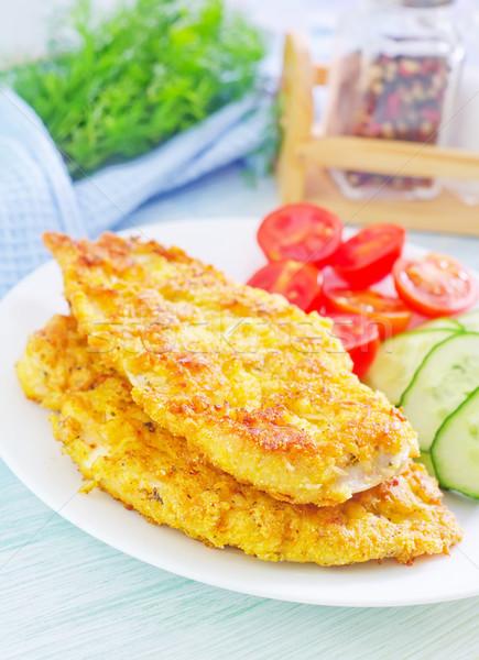 鶏の胸肉 食品 乳がん 鶏 肉 トマト ストックフォト © tycoon