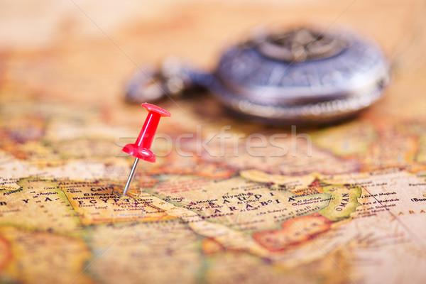 Stock fotó: öreg · iránytű · régi · térkép · térkép · absztrakt · háttér