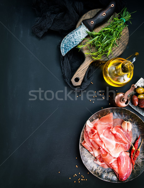 Prosciutto Stock photo © tycoon