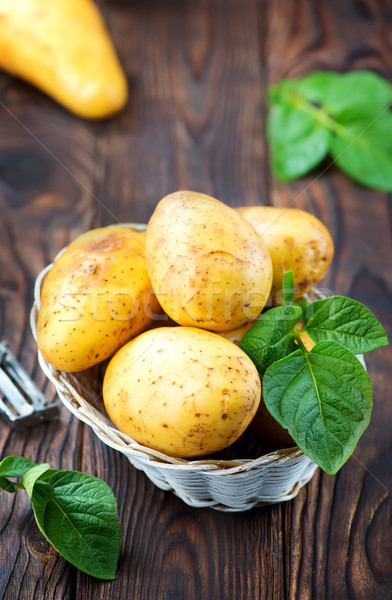 Greggio patate basket tavola alimentare natura Foto d'archivio © tycoon