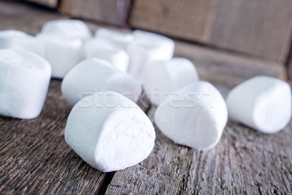 Fehér fa asztal friss édes étel gyerekek Stock fotó © tycoon