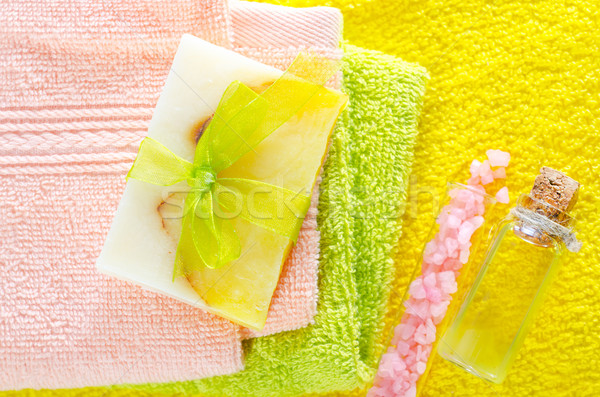 Jabón sal médicos belleza Foto stock © tycoon