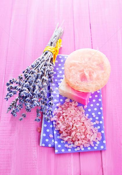 Deniz tuzu sabun çiçek vücut güzellik bar Stok fotoğraf © tycoon