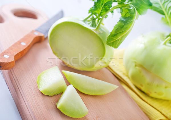 Col cocina bordo alimentos hoja Foto stock © tycoon
