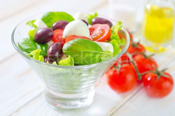 Капрезе лист зеленый обеда красный еды Сток-фото © tycoon