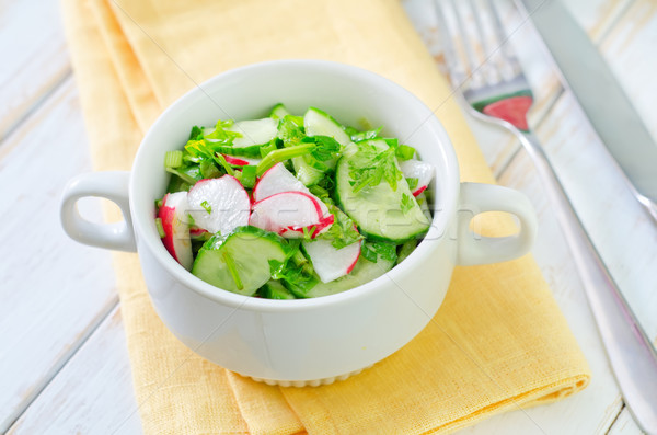 Taze salata gıda yaprak arka plan plaka Stok fotoğraf © tycoon