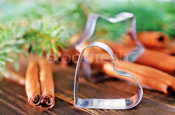 Stockfoto: Spice · cookies · christmas · cookie · tabel · oranje