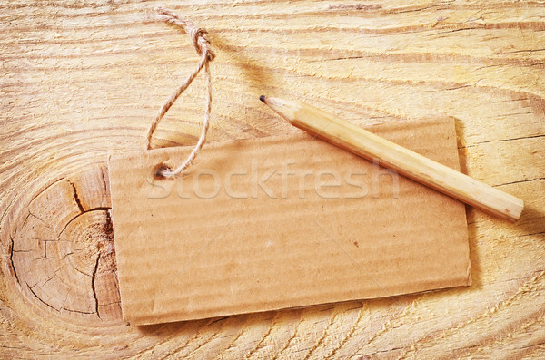 Stock photo: blank on wooden background