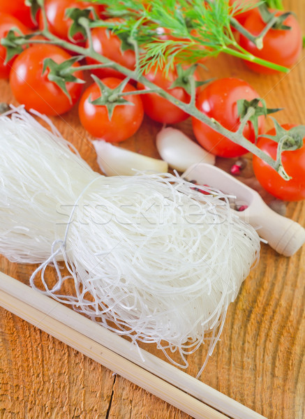 rice noodles and tomato Stock photo © tycoon