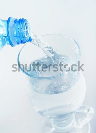 white pills and water Stock photo © tycoon