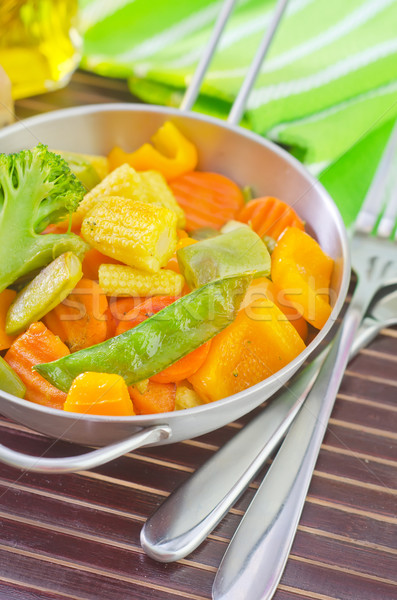 fried vegetables Stock photo © tycoon