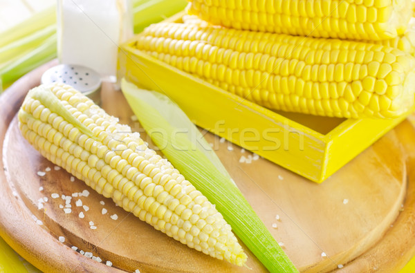 boiled corn with salt Stock photo © tycoon