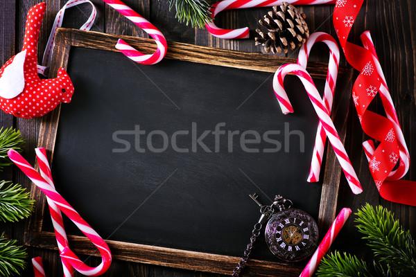 クリスマス 装飾 注記 木材 雪 ストックフォト © tycoon