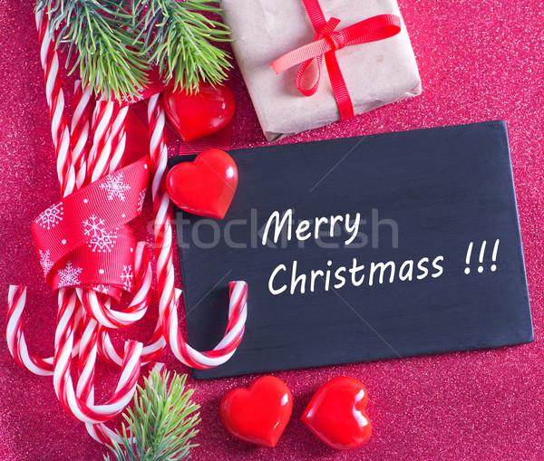 Noel dekorasyon dikkat ahşap kar Stok fotoğraf © tycoon