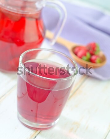 strawberry coctail Stock photo © tycoon
