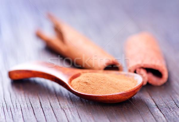 シナモン スプーン 表 木材 自然 黒 ストックフォト © tycoon