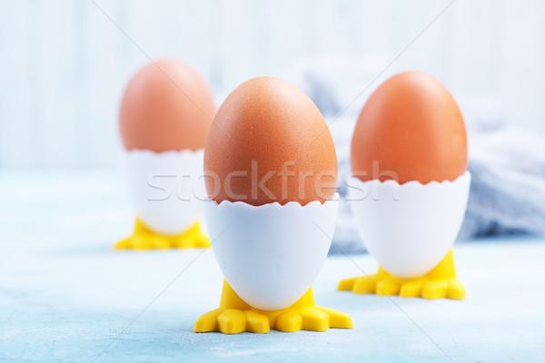 卵 青 表 朝食 卵 ストックフォト © tycoon
