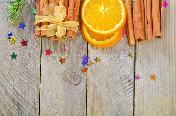 Arancione cannella albero alimentare natura spazio Foto d'archivio © tycoon