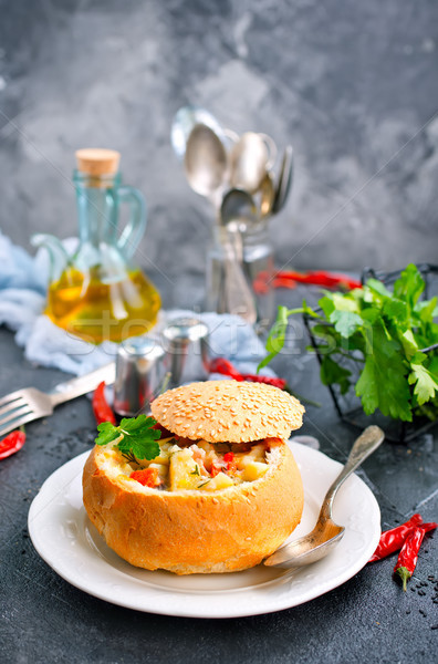 baked vegetables in ban Stock photo © tycoon
