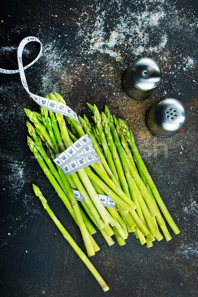 Сток-фото: зеленый · спаржа · белый · пластина · таблице · продовольствие