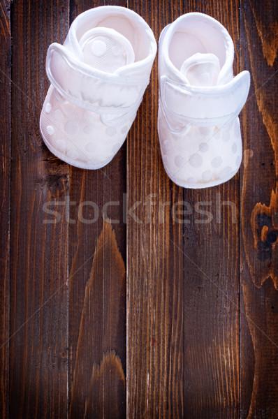 Photo stock: Peu · fille · bébé · pieds · garçon