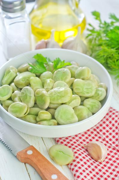 Taze fasulye mutfak yeşil sebze pişirme yemek Stok fotoğraf © tycoon