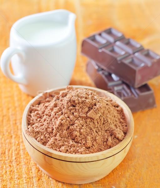 Hout melk snoep donkere vet dessert Stockfoto © tycoon