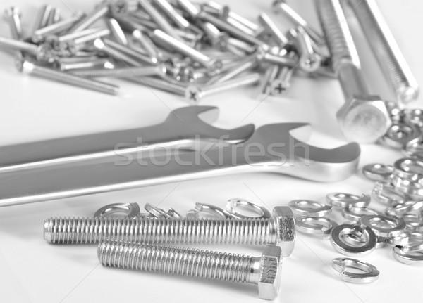 орехи текстуры матери промышленности стали механиком Сток-фото © tycoon