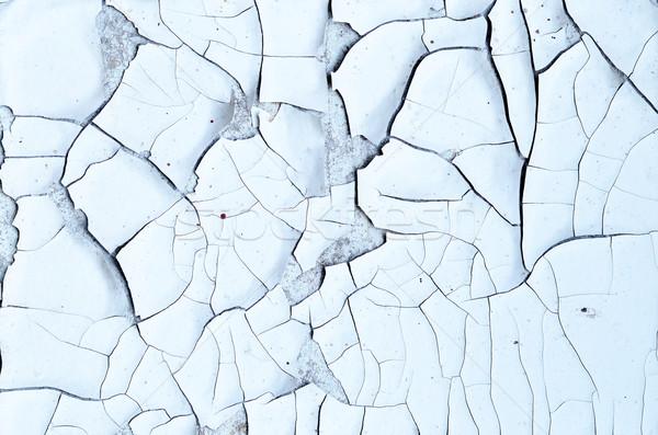 Stenen muur veel scheuren oude muur Stockfoto © tycoon