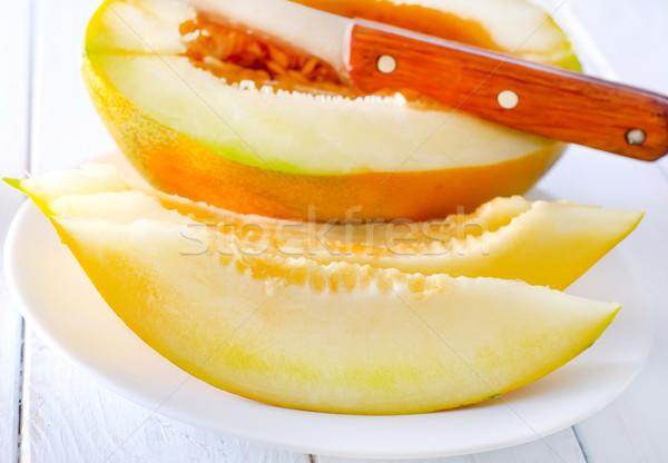 дыня продовольствие фрукты оранжевый листьев красный Сток-фото © tycoon
