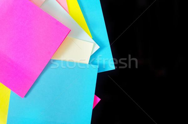 Color escuela fondo espacio blanco cartel Foto stock © tycoon