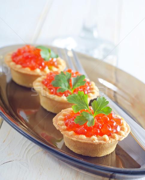 tartalets with caviar Stock photo © tycoon